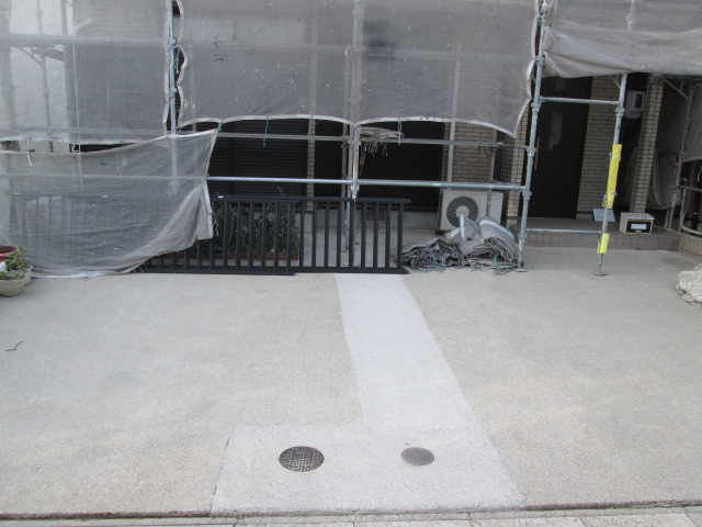 駐車場土間高圧洗浄 完了