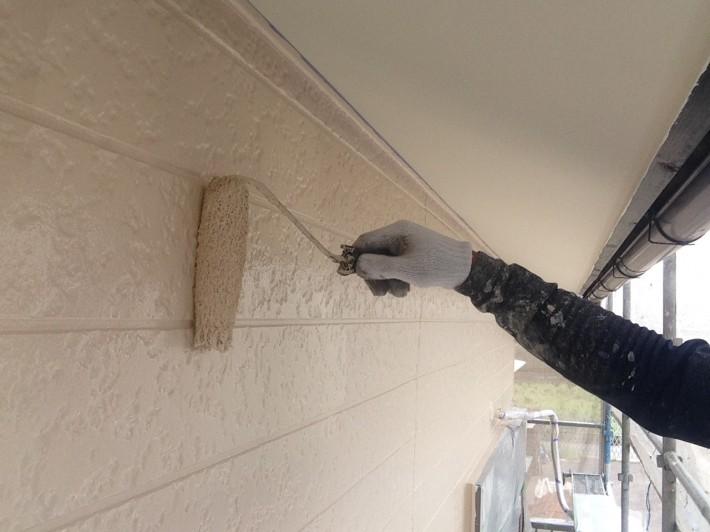 【外壁】 上塗り2回目 一液マイルドシリコン