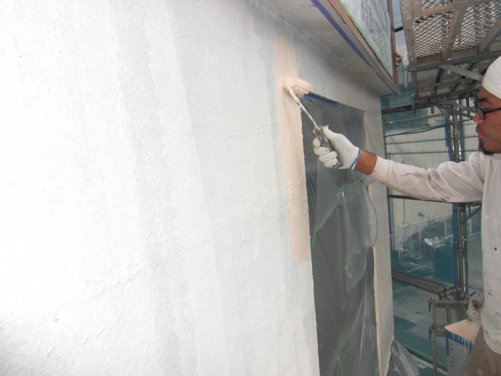 【外壁】上塗り1回目