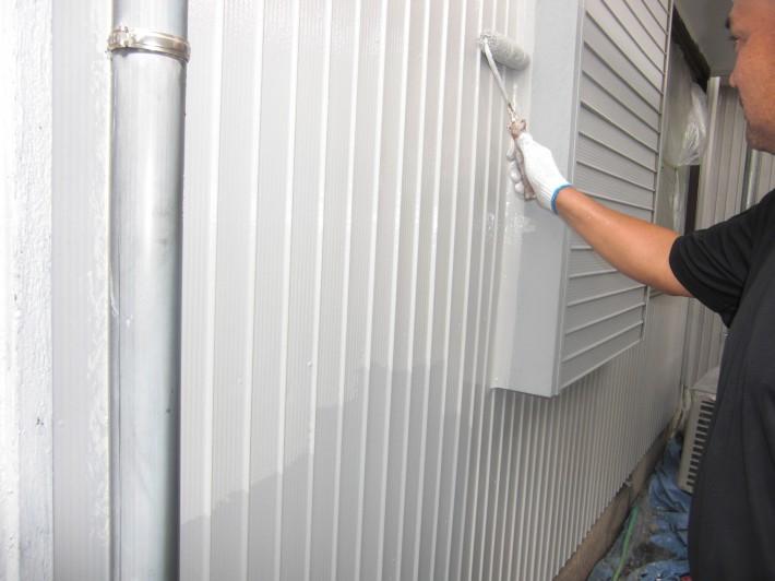 【外壁トタン】上塗り1回目