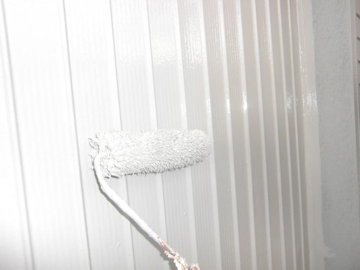 【外壁トタン】上塗り2回目