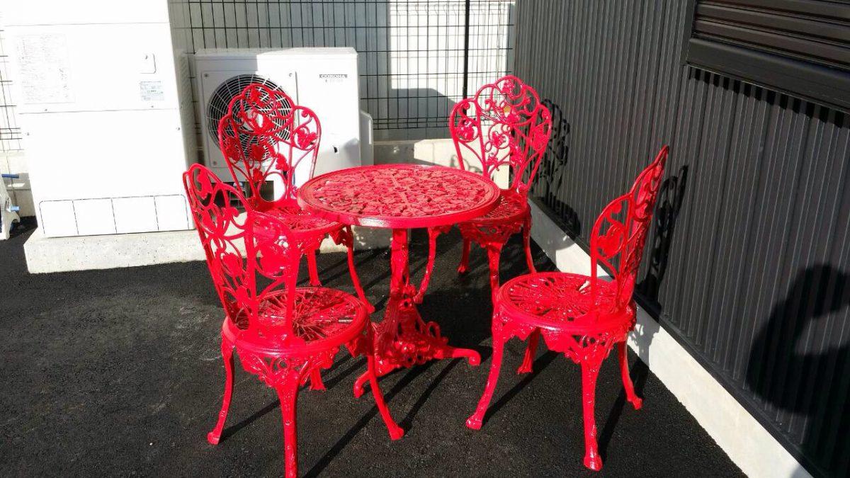 鋳物机・椅子塗装