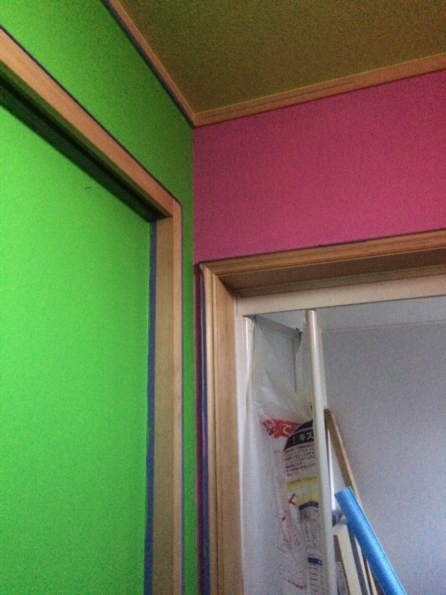 ルナファーザー塗装(ピンク・黄緑)