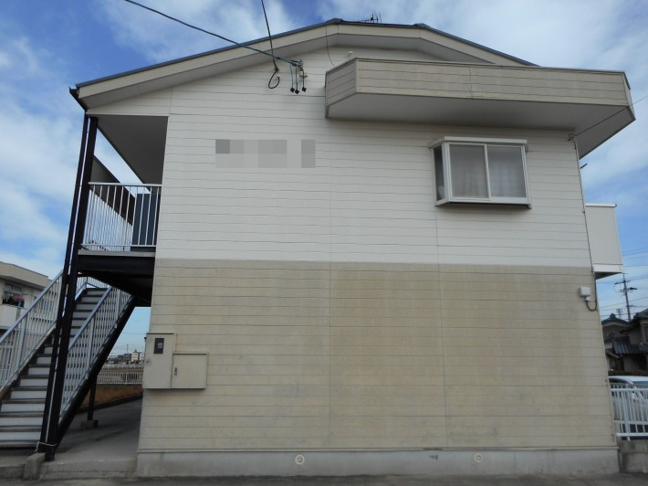 知立市 アパート2棟 外壁・屋根塗装工事