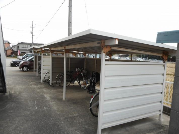 自転車置き場施工前