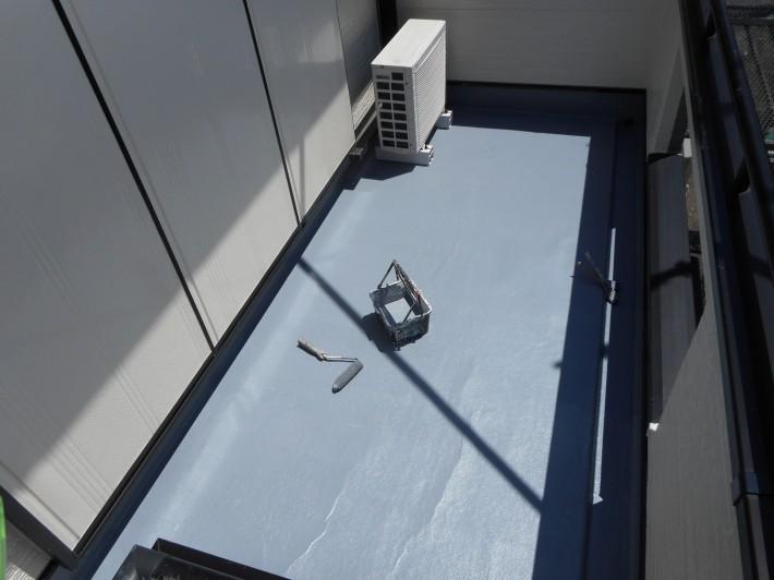 ベランダ床上塗り2回目