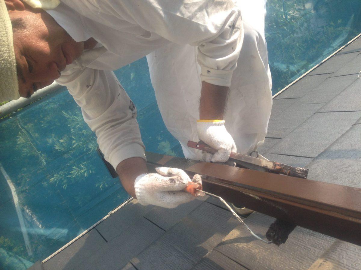 SK化研のフッ素、水性セラタイトFを塗装しました。