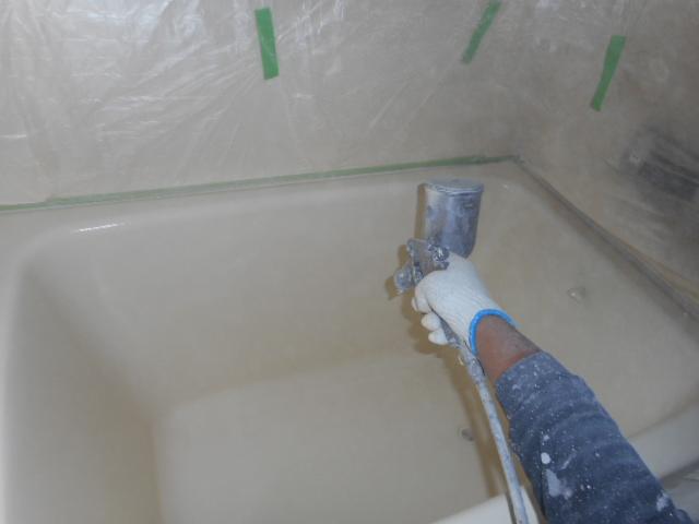 浴槽上塗り2回目