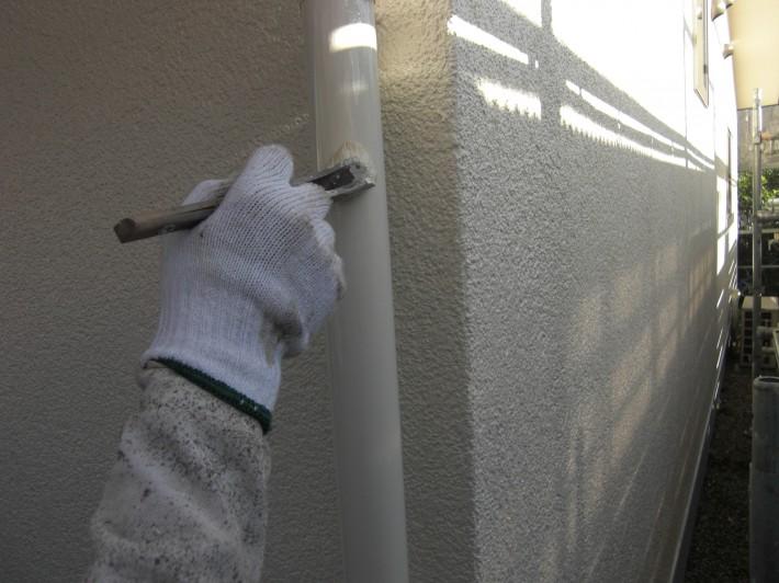 雨樋上塗り2回目