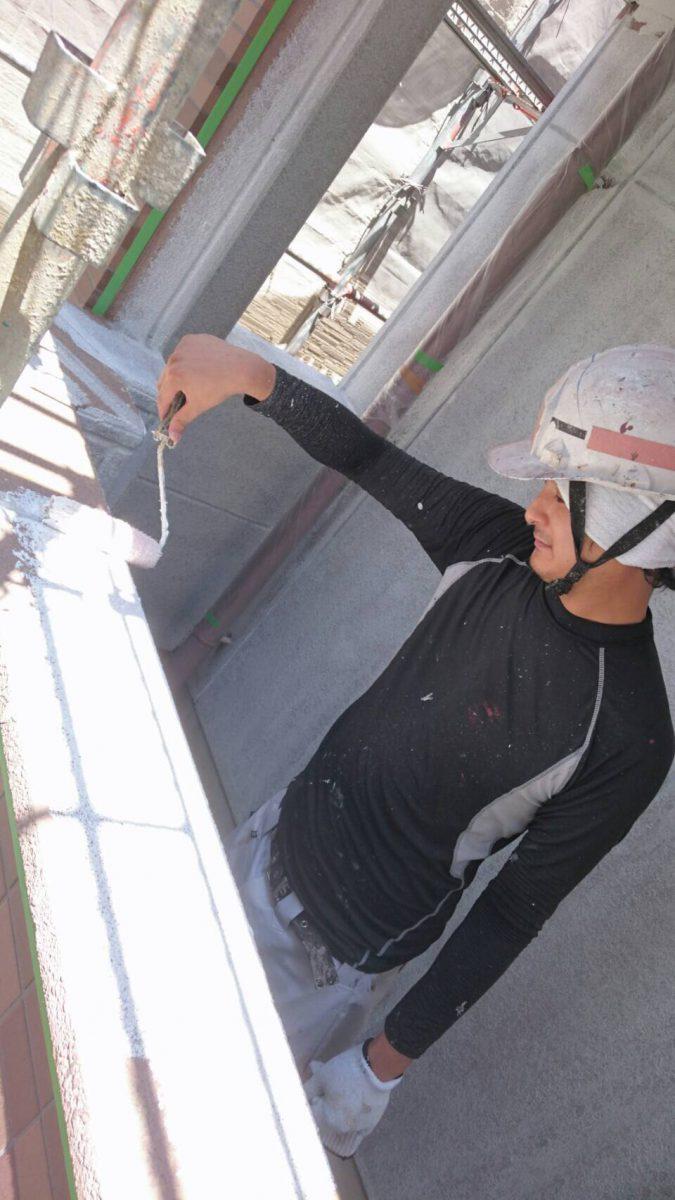 折版屋根塗装 グレー(N-75+N-67)