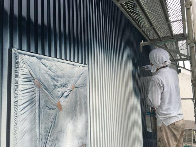 外壁ガルバリウム鋼板塗装
