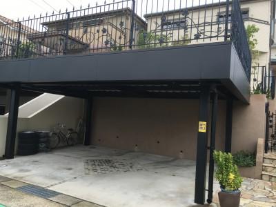 駐車場鉄骨・キーストンプレート塗装 折版屋根塗装
