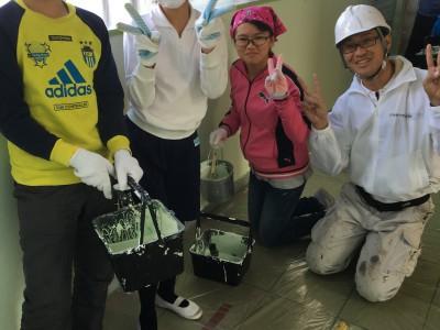 小学校ボランティア塗装 三重県伊勢市