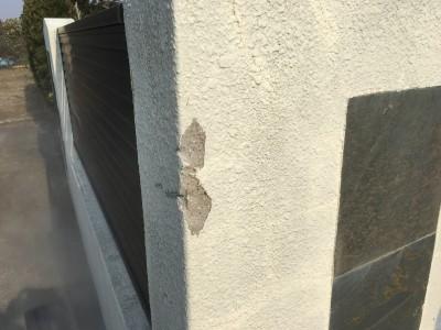 外塀 Kモル補修+塗装