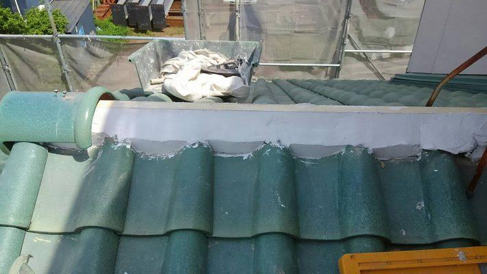 垂木交換漆喰塗り施工後