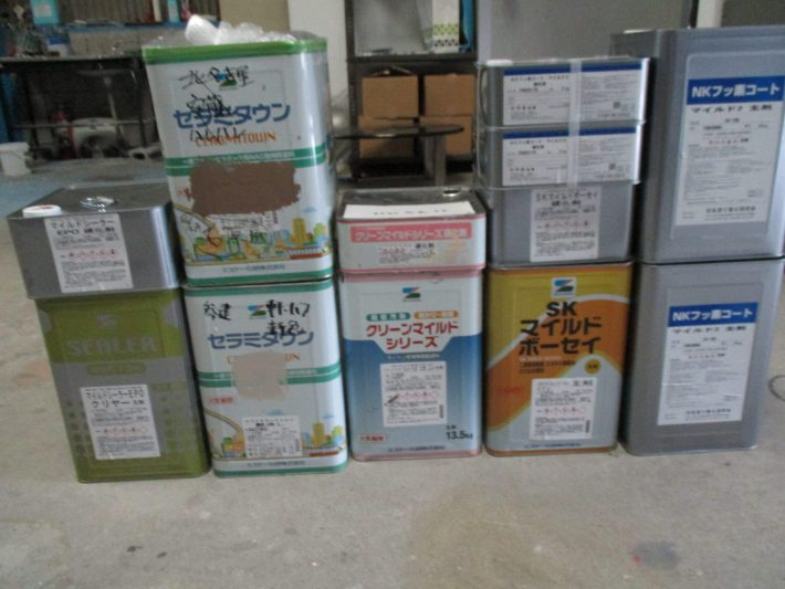 NKフッ素コートマイルド2 2set(SR109) クリーンマイルドシリコン1set(255) セラミタウンマイルド 1缶(黄土色 調色) SKマイルドボーセイ1set(グレー) マイルドシーラーEPO