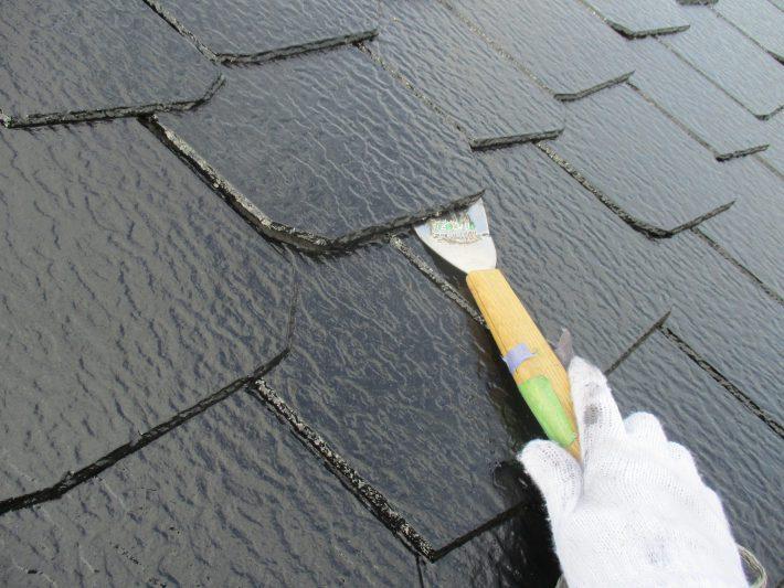 縁切り 塗料で埋まった隙間を元に戻します。雨漏り防止です。