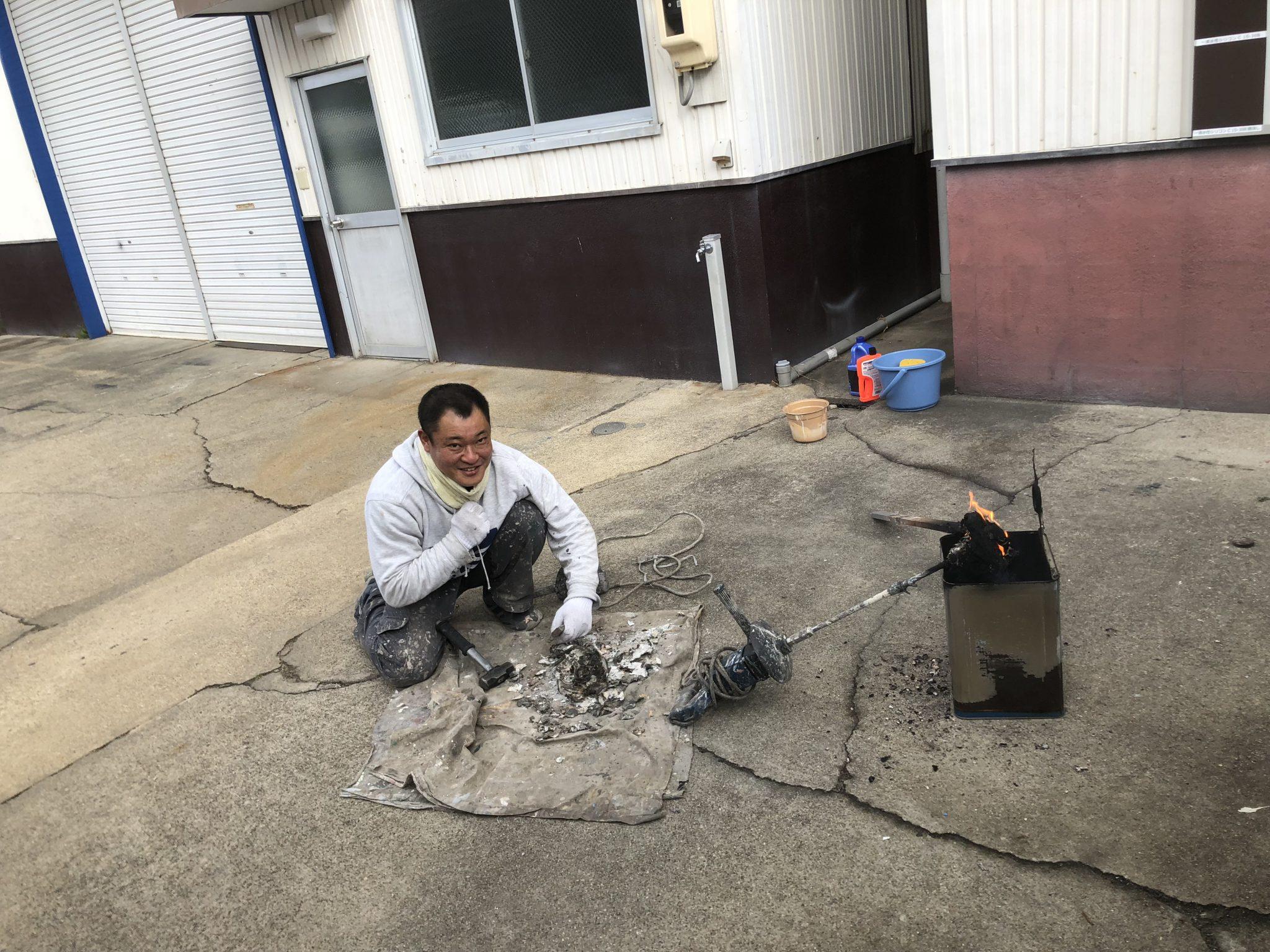 春日井市押沢台外壁塗装 足場解体 年末の大掃除