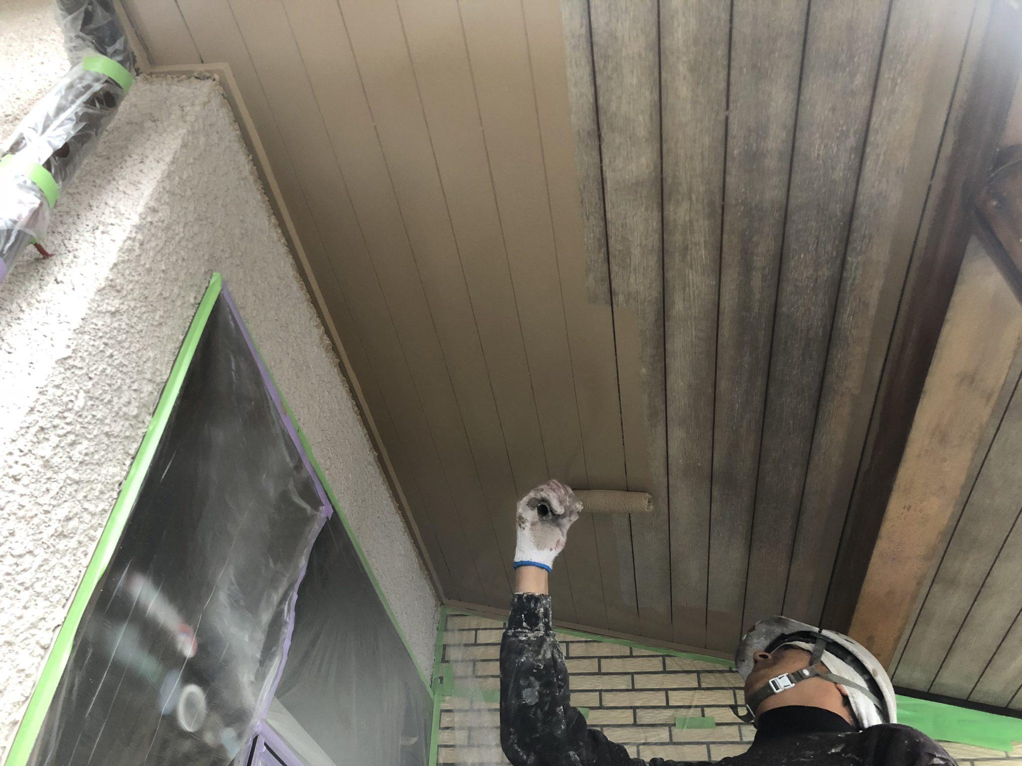 春日井市稲口町 外壁塗装工事進捗状況
