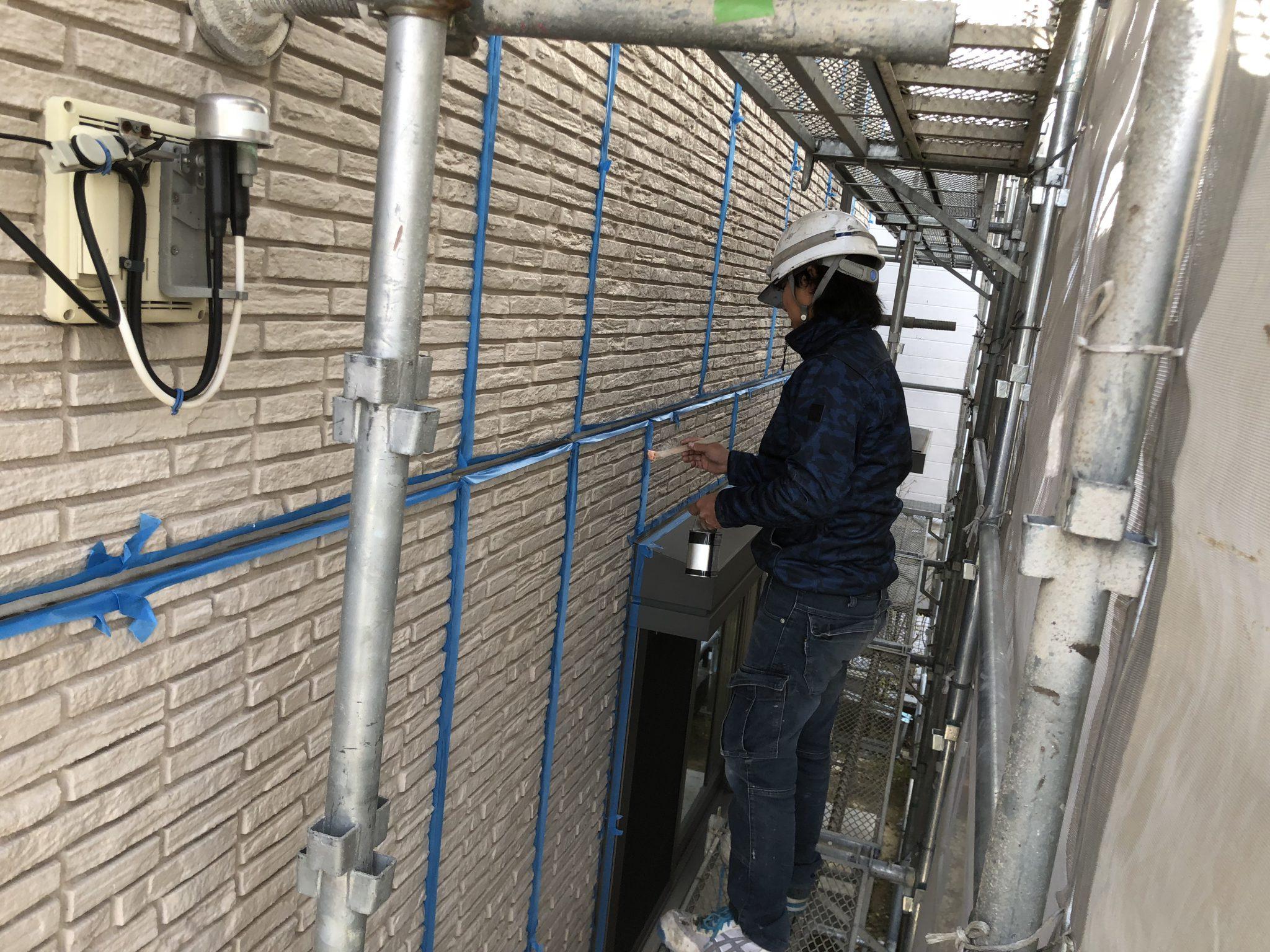 春日井市押沢台 外壁塗装とシーリング 施工動画