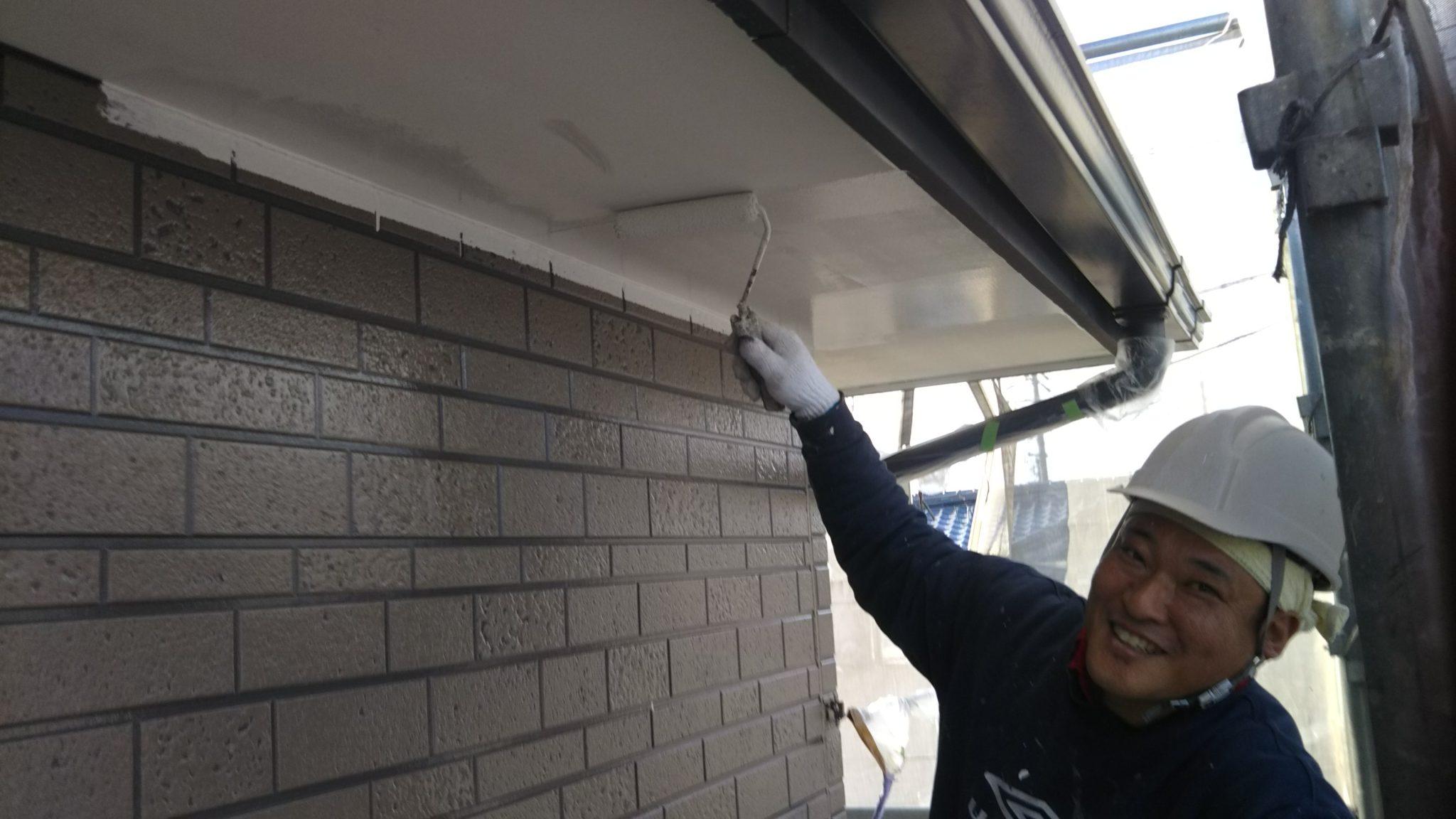春日井市 外壁フッ素塗装進捗状況