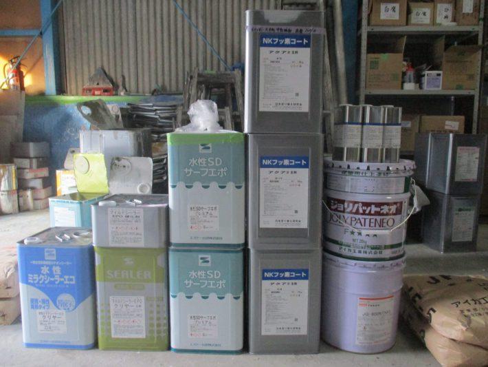 SDサーフエポ 2缶 NKフッ素コートアクア2 3セット(SR174・N-20・N-50調色・N-65調色) マイルドシーラーEPO 1セット ミラクシーラーエコ 1缶 ジョリパット 1缶 (N-65) ジョリパットフレッシュ(N-65)