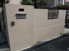 春日井市岩成台 S様邸 外塀・折版屋根塗装工事