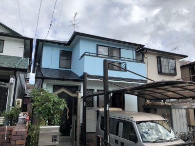 春日井市味美町N様邸の外壁・屋根塗装のご紹介です。 築22年で色褪せや外壁シーリング劣化などがあり...