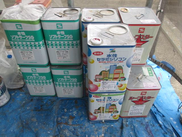 ソフトサーフSG 4缶 セラミシリコン 4缶(SR164) 1液ルーフスターシリコン 3缶(N-90)