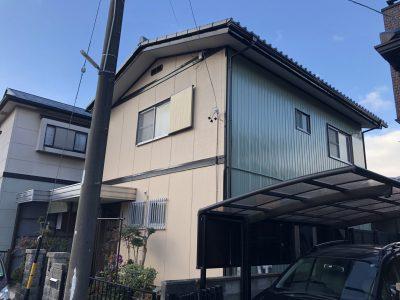 春日井市牛山町様邸の外壁・屋根塗装のご紹介です。 築45年で2回目の塗り替えになります。色褪せや屋...