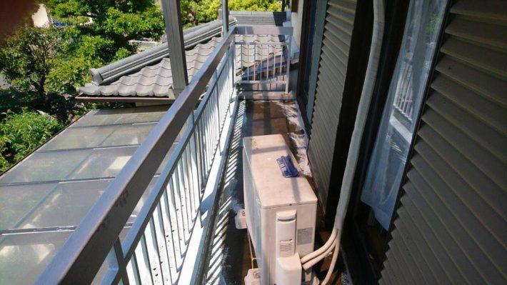 ウレタン防水1層目 ウレタン塗膜防水材を1層目塗布します。
