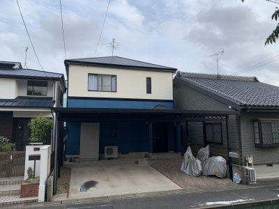 春日井市八田町K様邸の外壁塗装・防水のご紹介です。 築20年で初めての塗り替えになります。コーキン...
