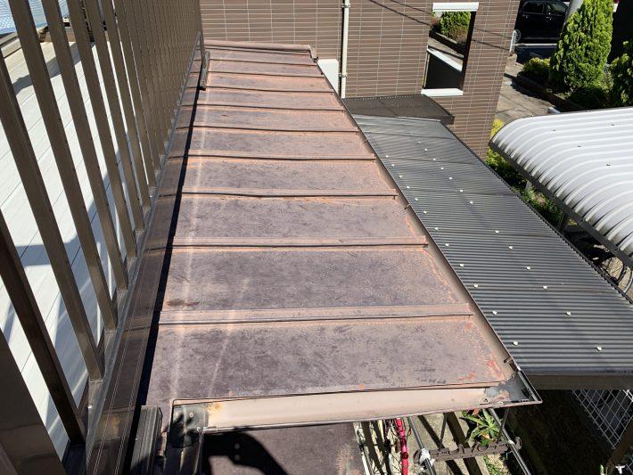 春日井市下屋敷町 K様邸 下屋根塗装・ナミイタ交換工事