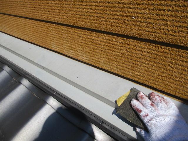 ケレン 汚れや錆を落としたり、表面に凹凸をつけることによって、接触面積を大きくし密着性を良くします。