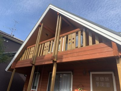 春日井市下屋敷町 H様邸の部分外壁塗装のご紹介です。 築5年で初めての塗り替えになります。1階部分...