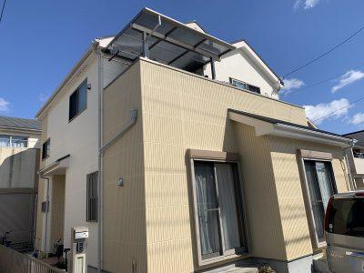春日井市稲口町 T様邸の外壁・屋根塗装のご紹介です。築11年で初めての塗り替えになります。劣化して...