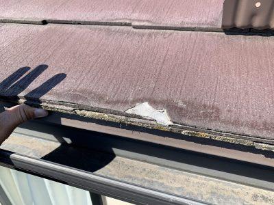 またもや、塗装してはいけない屋根、ニチハのパミールでした