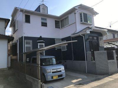 春日井市東野町西 K様邸の外壁・屋根塗装工事のご紹介です。築25年で2回目の塗り替えになります。以...