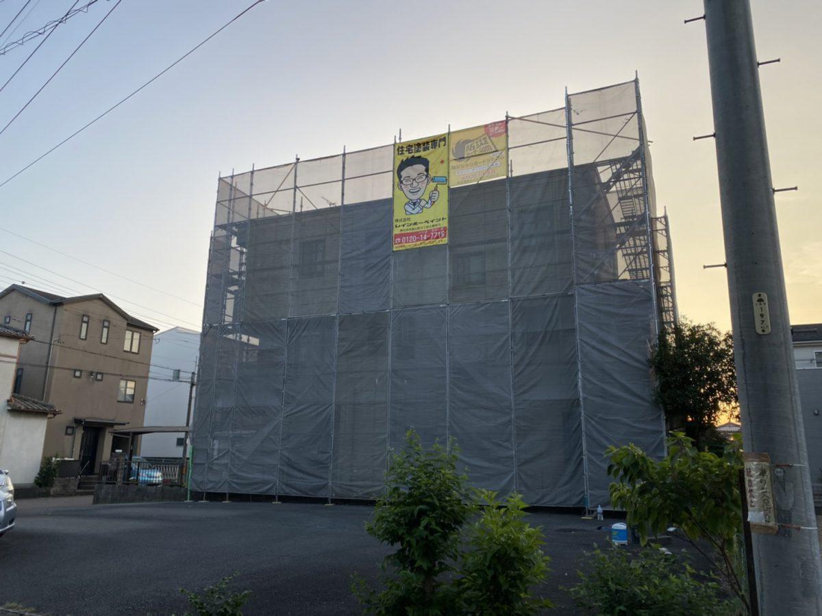 春日井市の外壁塗装施工写真📸