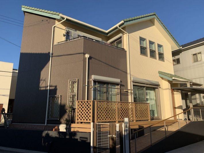 春日井市町屋町 K様邸 外壁塗装・FRP防水工事