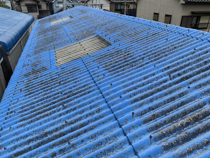 春日井市大手町 O様倉庫 屋根・外壁部分塗装・雨樋交換工事