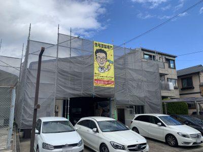 春日井市大手町の倉庫屋根・部分外壁塗装📸