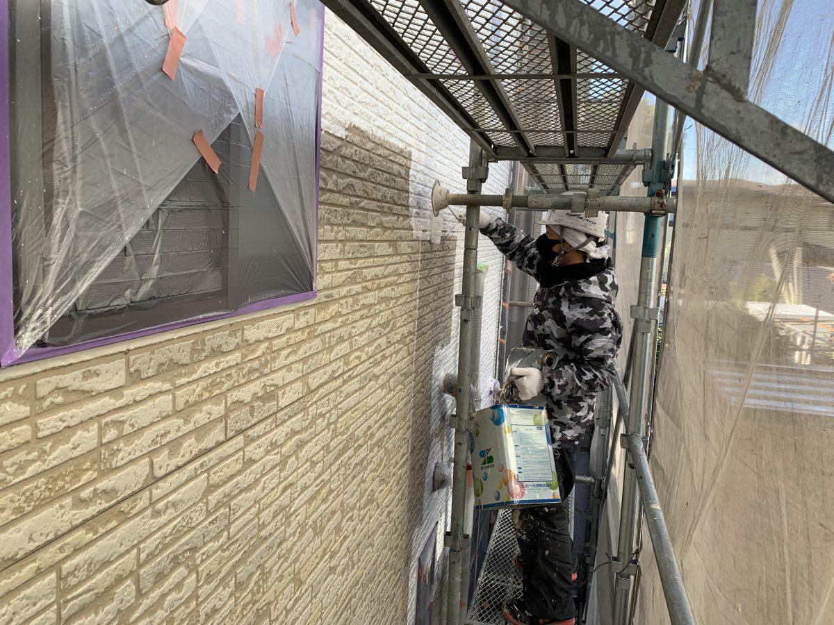 外壁サイディングのクリヤー塗装