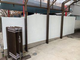 春日井市八光町 U様邸 外塀塗装工事