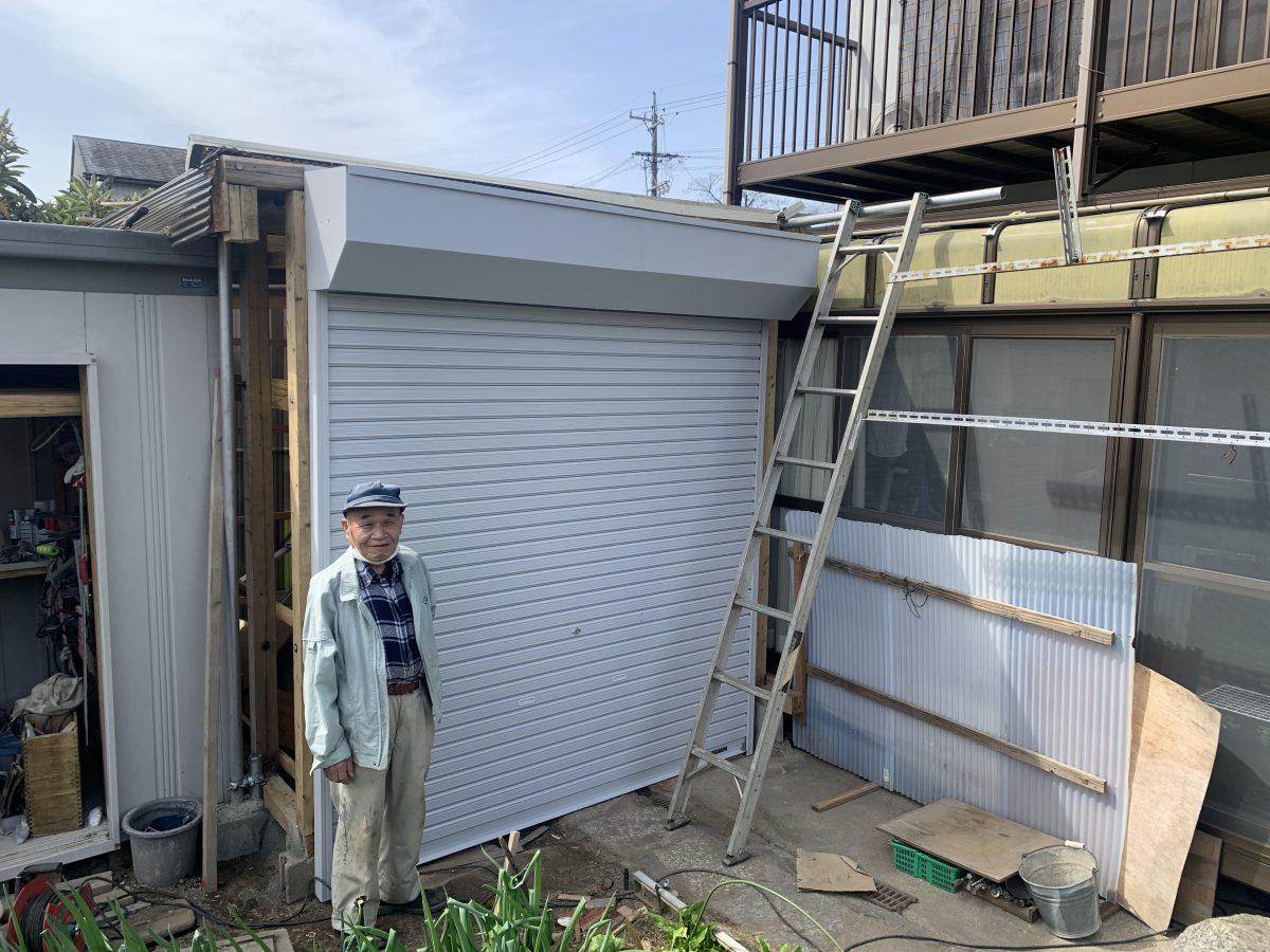 春日井市如意申町 車庫シャッター取付工事