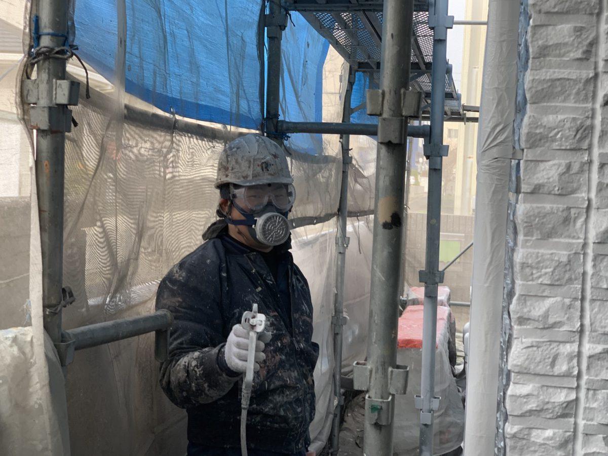 セキスイハウスの吹付塗装 YouTube動画📷