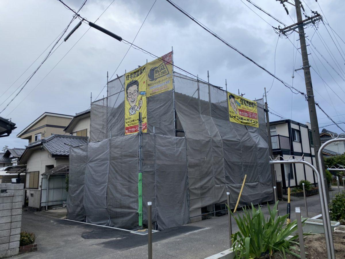 春日井市西屋町の外壁塗装工事📸